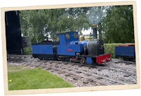 Blue Miniature Steam Train