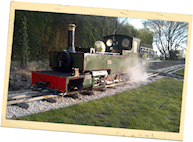 Green Miniature Steam Train